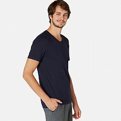 NYAMBA Pánske Tričko 500 Slim Modré