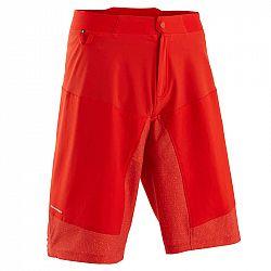 ROCKRIDER Mtb šortky St 500 červené
